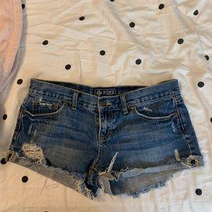 VS PINK denim shorts